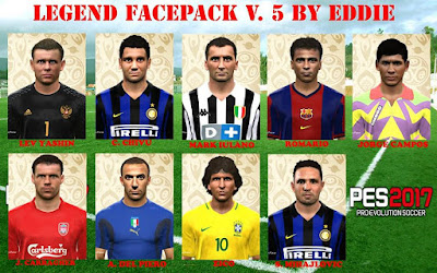 PES 2017 Legend Facepack vol.5 by Eddie Facemaker