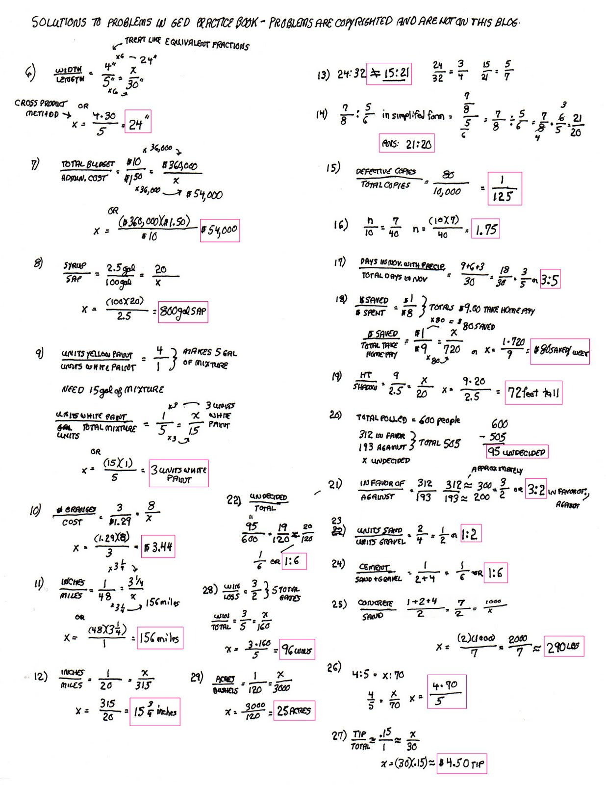 Ged Practice Worksheets Delibertad – Math Practice Worksheets