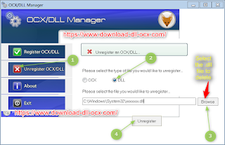register dll file by ocx/dll manager tool