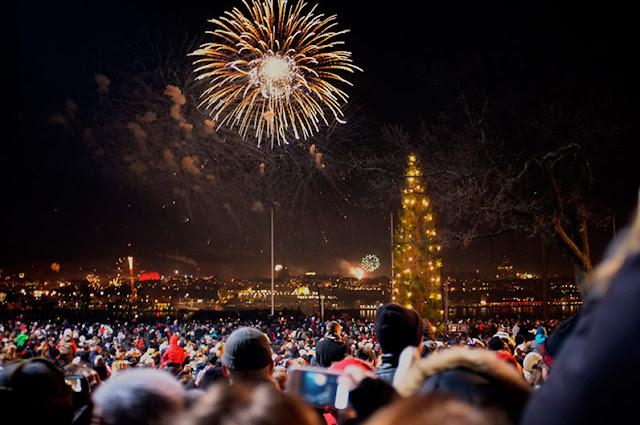 Año nuevo en Skansen, Estocolmo