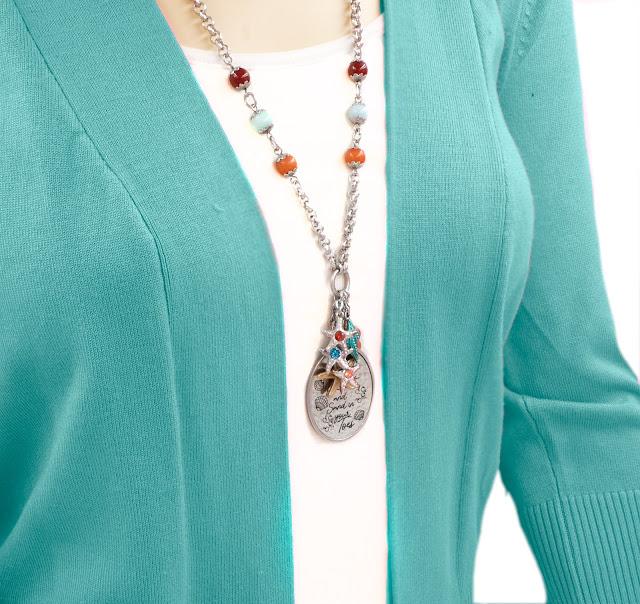 sea shell sand dollar necklace
