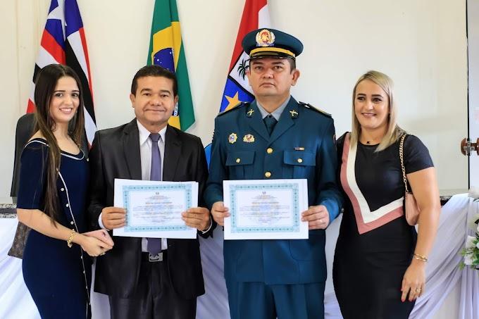 Câmara concede título de Cidadão Turilandense ao Sargento Castro e Marlon Serrão