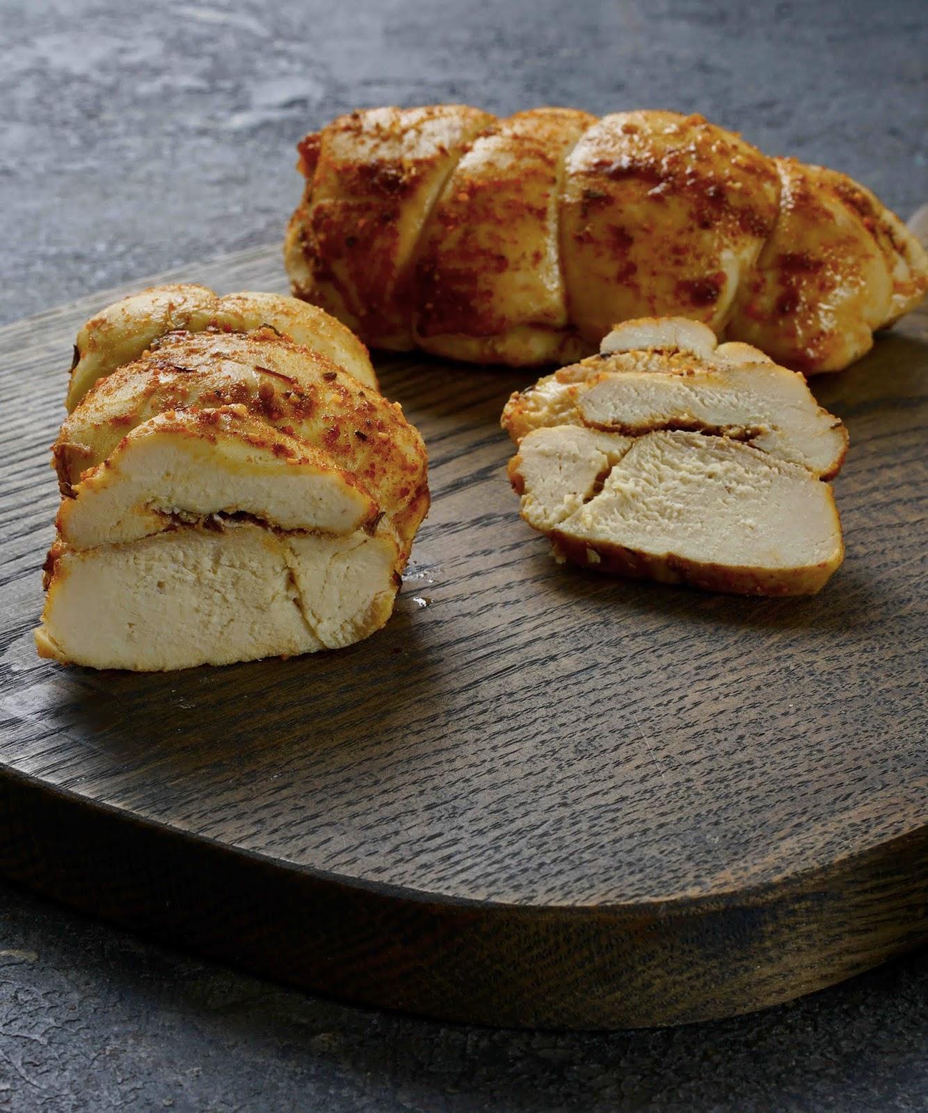 poulet très moelleux , épices , cuisson au four