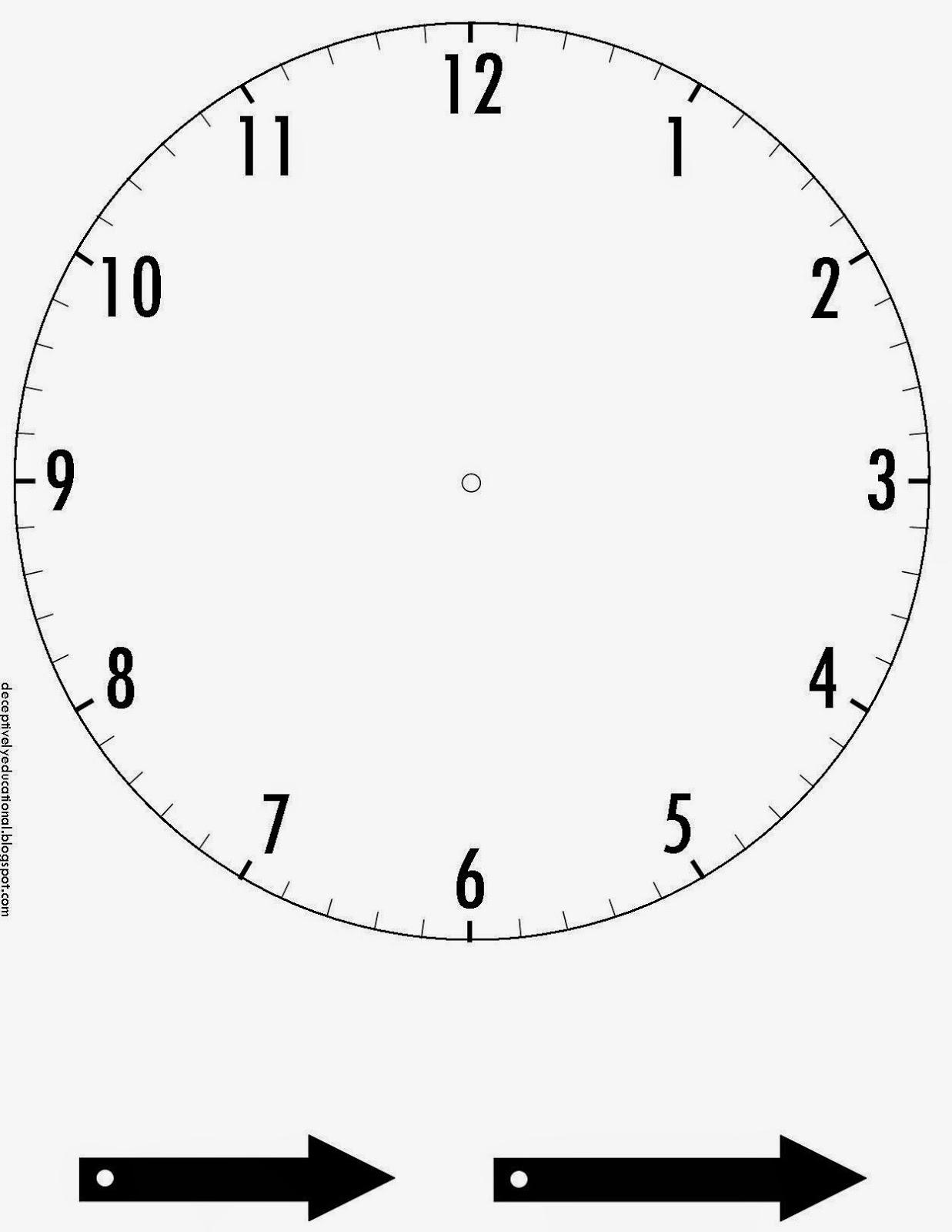 printable clock face with movable hands - Monza berglauf-verband com