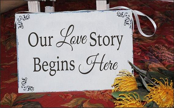 Tanda kisah cinta kami bermula...