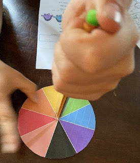 Course two of color centers - spin the wheel to choose a color.  Different spinners included so you can study probability.  Adapted for preschool to sixth grade across multiple skillsets.