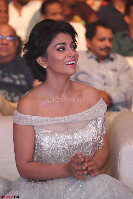 Shriya Saran in Stunning White Off Shoulder Gown at Nakshatram music launch ~  Exclusive (1).JPG