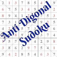 Anti Diagonal Sudoku Puzzles Main Page