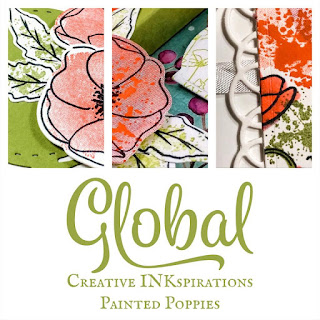 Global Creative INKspirations Painted Poppies Collaborative Sneak Peek | Available to those who purchase the Painted Poppies stamp set or bundle directly from my online store by February 15, 2020.