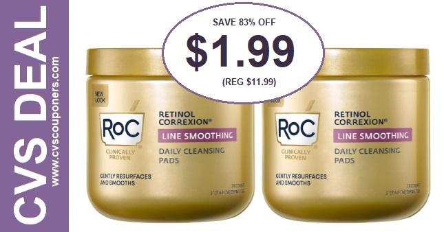 RoC Retinol Cleansing Pads CVS Deals