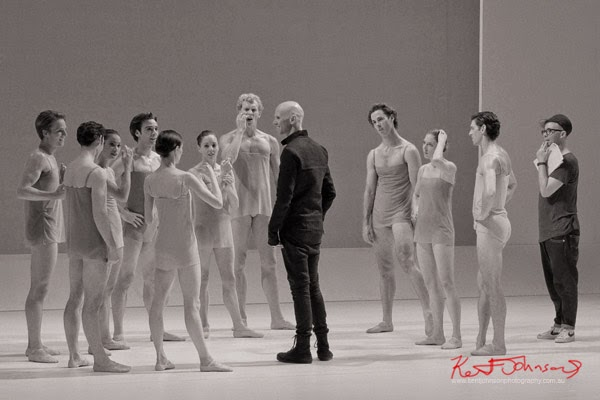The Australian Ballet - CHROMA - Preview & Dress Rehearsal with Wayne McGregor - Photographed by Kent Johnson.