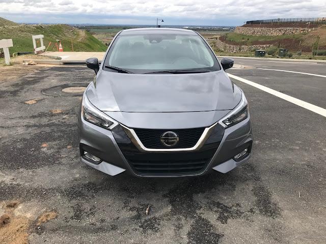 Front view of 2020 Nissan Versa SR