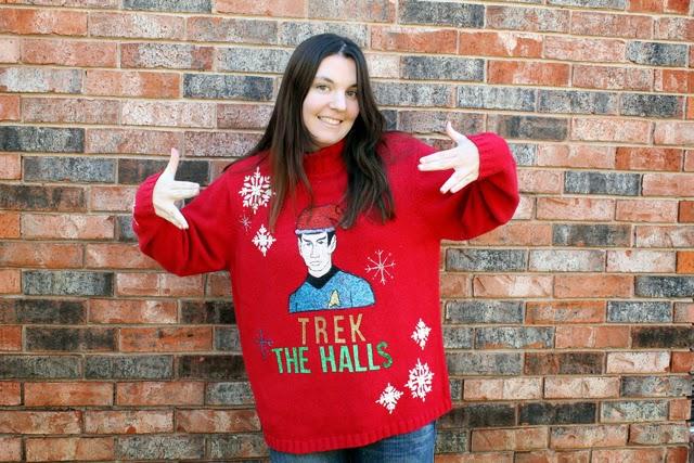 Star Trek Sweater | DIY Ugly Christmas Sweater | ugly christmas sweater ideas diy