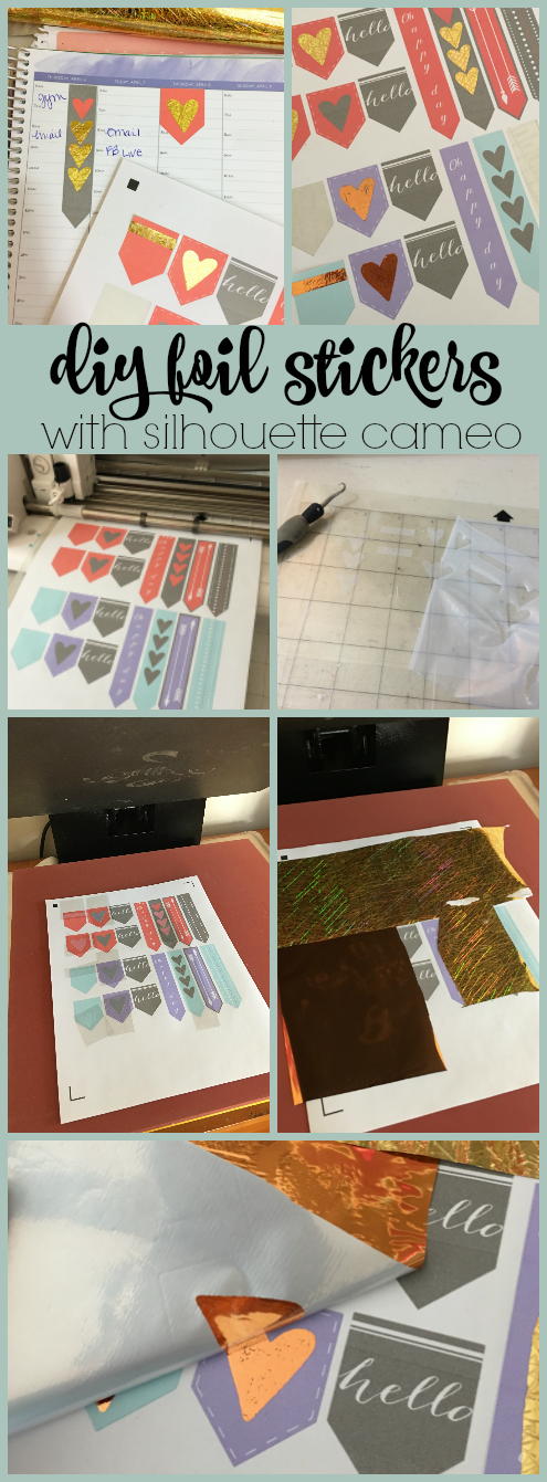 silhouette cameo foil stickers planner stickers print and cut how to foil shirts