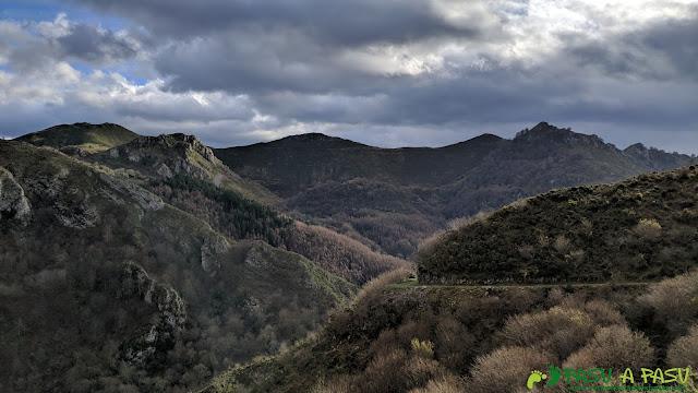 Camino por la ruta del Bosque de Cea