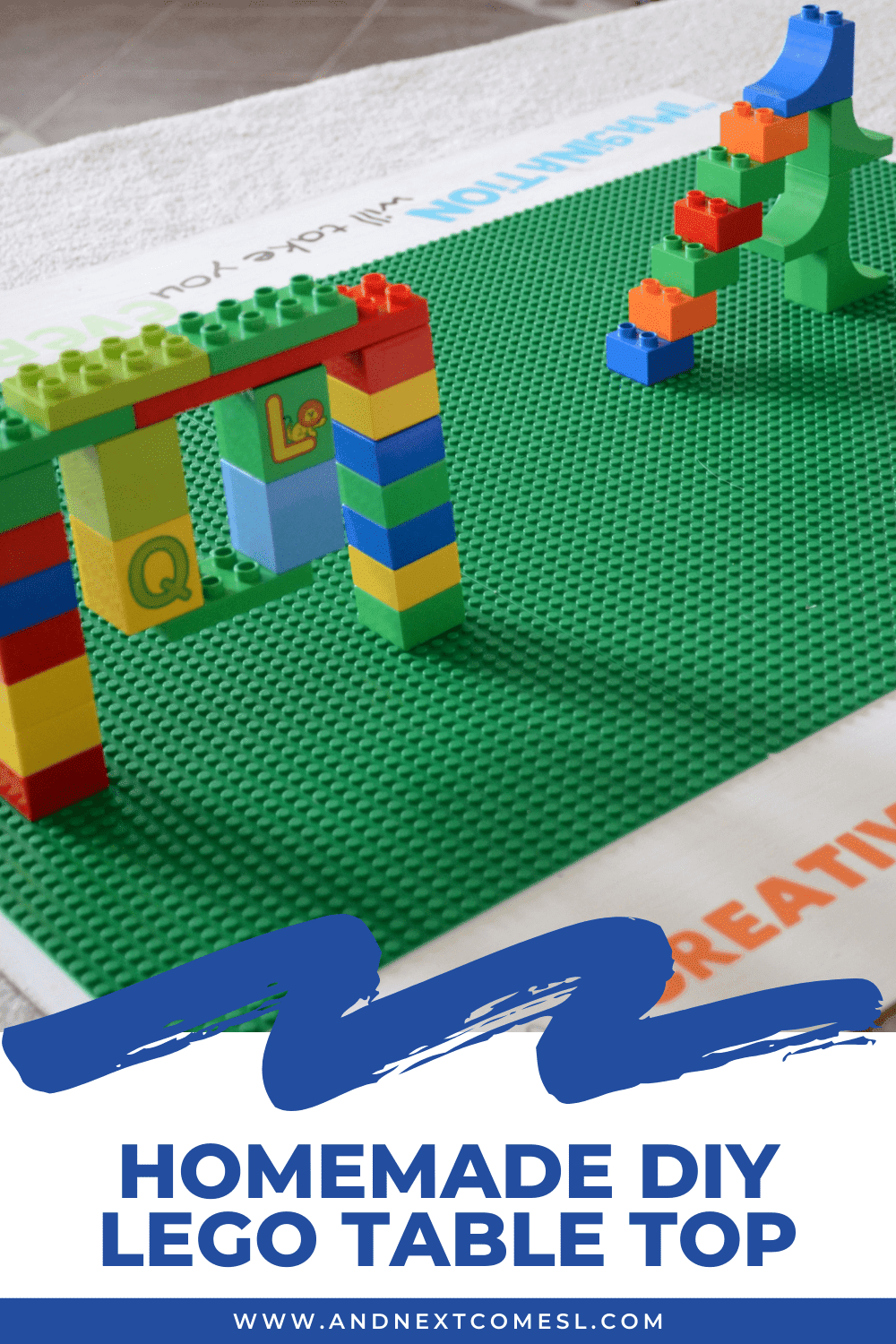 How to make a homemade DIY LEGO table top that's removable and portable