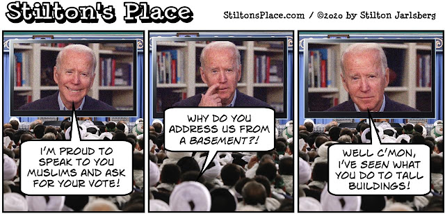 stilton's place, stilton, political, humor, conservative, cartoons, jokes, hope n' change, biden, muslims