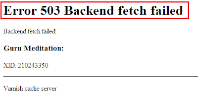 Cara Mengatasi Error 503 Backend Fetch Failed
