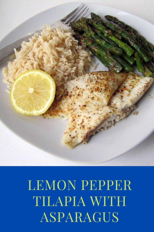 Lemon Pepper Tilapia with Asparagus