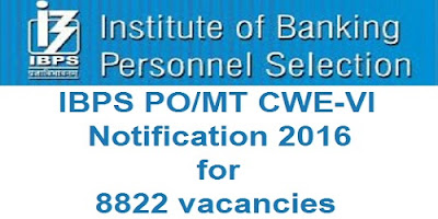 IBPS PO 2016 Notification