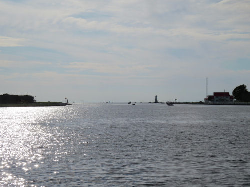 Ludington harbor channel