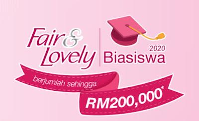 Permohonan Biasiswa Fair & Lovely 2020 Online (Borang)