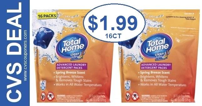 Total Home Laundry Detergent CVS Deals 5/16-5/22