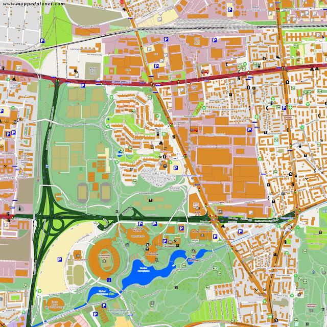 Karten und Stadtpläne München from Olympiastadion münchen karte