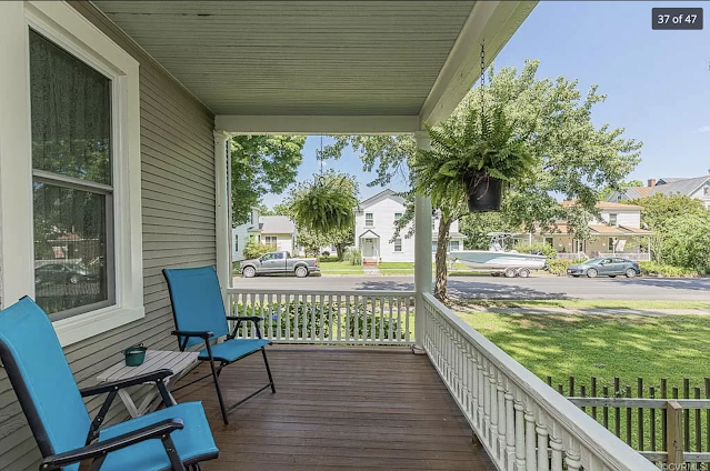 color photo of Side porch addition on Sears Avoca