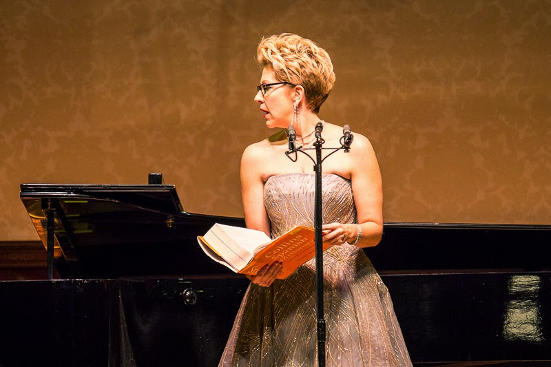Joyce DiDonato performing Celius Dougherty's Love at the Wigmore Hall - photo credit Simon Jay Price