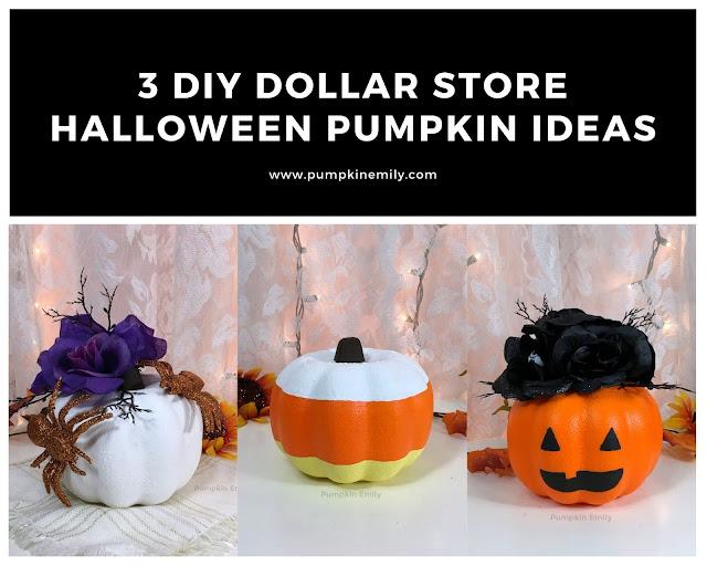 3 DIY Dollar Store Halloween Pumpkin Ideas