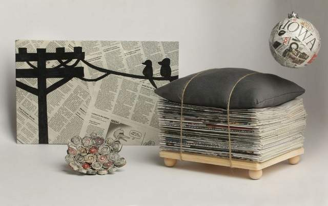 home decoration with newspaper