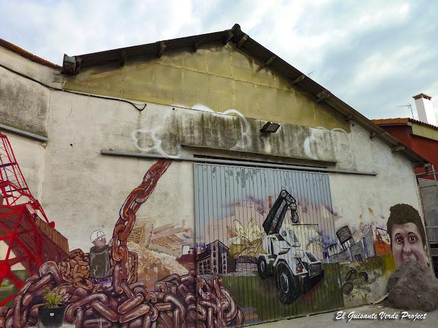 Mural 'Demolición', Zorrozaurre - Bilbao, por El Guisante Verde Project