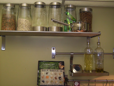 How to Remodel and Decorate a Small Kitchen. adding Utensil and condiment Racks