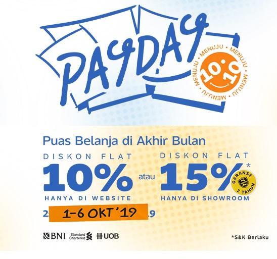 #Fabelio - #Promo Diskon Flat 10% & 15% Payday (s.d 06 Okt 2019)
