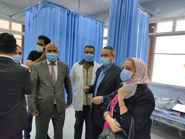 بالصور..وفد من وزارة الصحة يتفقد مستشفيات صدر طنطا و المحلة