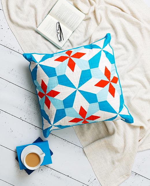 Hattie's Choice Pillow designed by Accuquilt