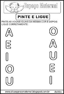Atividades com as vogais