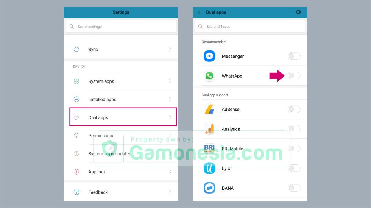 cara menggunakan dua whatsapp dalam satu handphone
