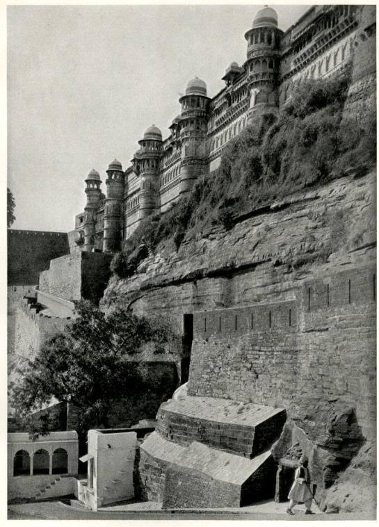 View of the Citadel at Gwalior Fort, Madhya Pradesh, India - 1928