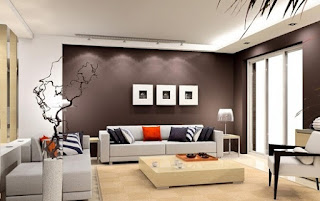 Sala paredes marrones