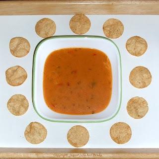 Kashi Hummus Crisps Sea Salt and Olive Oil with bowl of soup