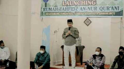 Rumah Tahfidz An-Nur Qurani Kubang Tangah Diresmikan Wako Sawahlunto