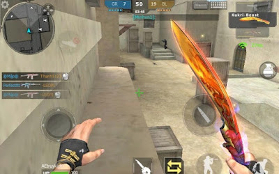 Dao quắm là loại vũ khí cận đấu nổi tiếng hàng đầu trong vòng Cross Fire