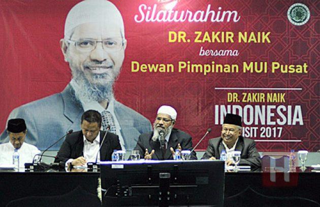 Gelar Silaturahim, MUI: Zakir Naik Tidak Serang Agama Manapun