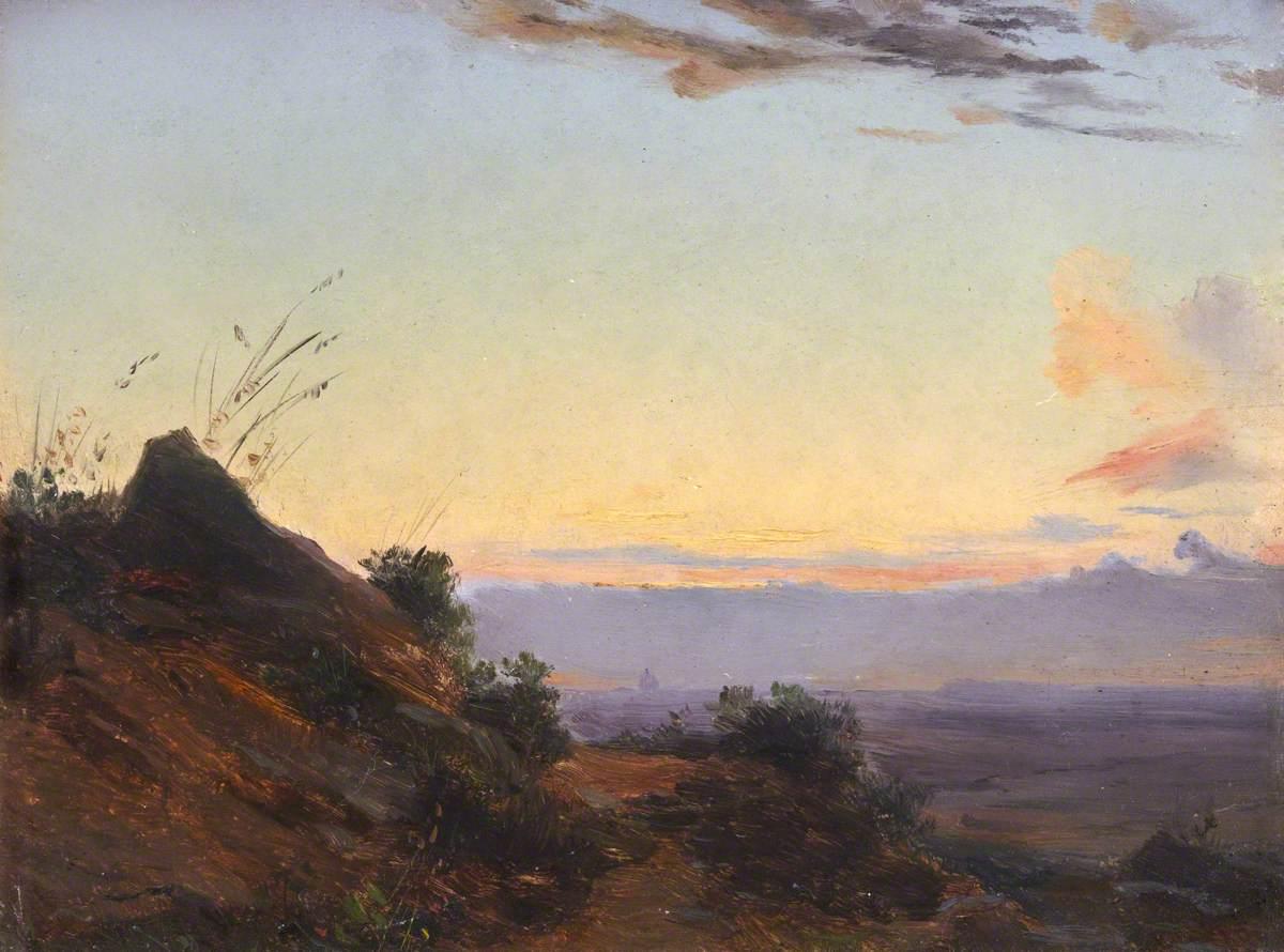 Mary Chaplin Artiste Peintre le prince lointain: henry bright (1810-1873), evening - vers