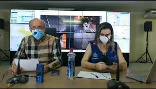 Secretário de Saúde da Paraiba, Geraldo Medeiros, alerta a população de Guarabira com relação à necessidade do isolamento social para evitar o coronavírus.