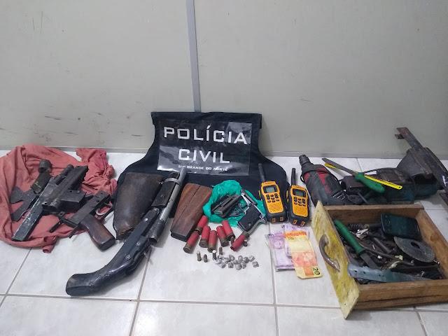 Polícia Civil prende homem fabricando arma clandestina no RN