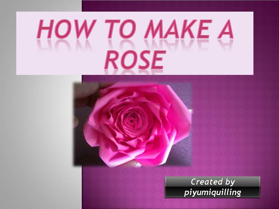 Piyumi Paper Quilling How To Make A Rose Step By Step Paper Quilling