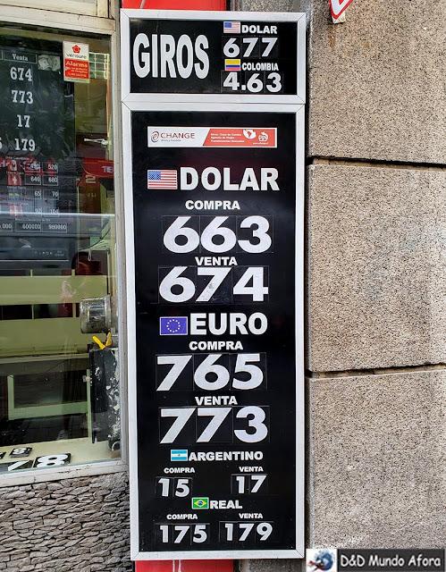 Cotação na rua Agustinas - Trocar dinheiro em Santiago: onde fazer câmbio